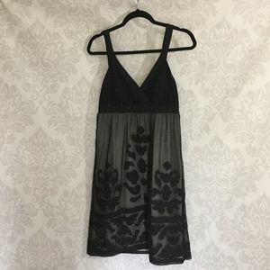 Elegant Little Black Cross Over Dress